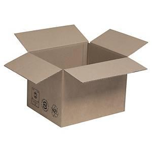 Kartonnen doos enkelgolfkarton, printerformaat, B190 x H160 x L230 mm, 25 dozen