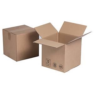 Kartonnen doos enkelgolfkarton, kubus, B 250 x H 250 x L 250 mm, per 25 dozen