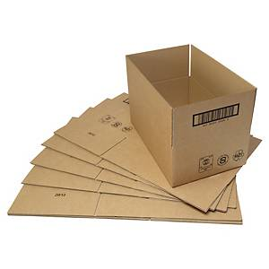 Boîte d expédition, 300 x 220 x 180 mm, simple paroi, marron, paq. 25unités