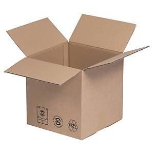 Kartonnen doos enkelgolfkarton, A4, B 220 x H 250 x L 310 mm, per 25 dozen