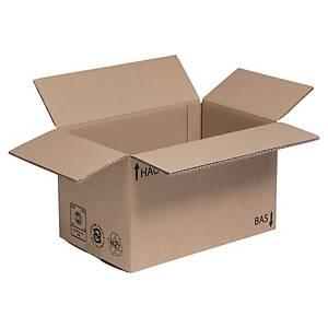 Kartonnen doos enkelgolfkarton, A4+, B 230 x H 250 x L 350 mm, per 25 dozen