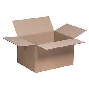 Kartonnen doos enkelgolfkarton, B 310 x H 240 x L 410 mm, per 25 dozen