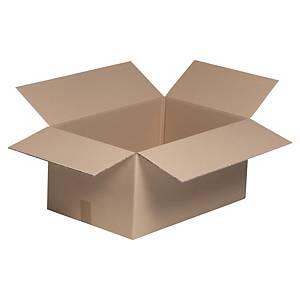 Kartonnen doos enkelgolfkarton, textiel, B 800 x H 500 x L 400 mm, per 10 dozen