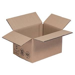 Versandkarton, 2-wellig, recyclebar, Maße: 250 x 180 x 140mm, braun, 20 Stück