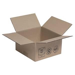 Versandkarton, 2-wellig, recyclebar, Maße: 350 x 350 x 230mm, braun, 20 Stück