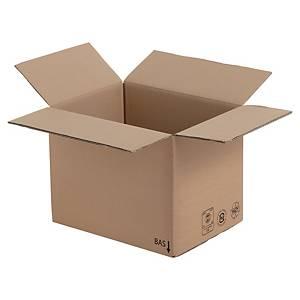 Versandkarton, 2-wellig, recyclebar, Maße: 400 x 300 x 200mm, braun, 10 Stück