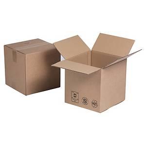 Kartonnen doos dubbelgolfkarton, kubus, B 400 x H 400 x L 400 mm, per 10 dozen