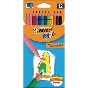 Kredki BIC Kids Tropicolors, opakowanie 12 kolorów