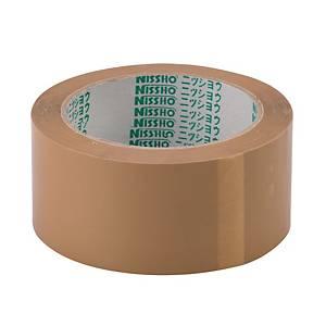 Nissho Opp Brown Packing Tape 60mm X 80m - Pack of 5