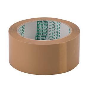 Nissho Opp Brown Packing Tape 72mm X 80m - Pack of 4
