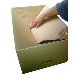 Verhuisdoos met semiautomatische bodem, 392 x 284 x 392 mm, per 30 dozen