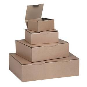 Boîte postale kraft brun - 200 x 100 x 100 mm - lot de 50