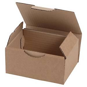 Boîte d'expédition, brune, carton simple cannelure, 100 x 100 x 200 mm, les 50