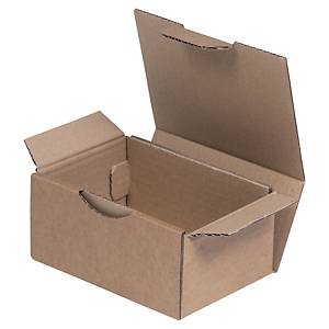Boîte d'expédition, brune, carton simple cannelure, 150 x 100 x 250 mm, les 50