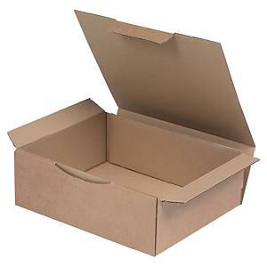 Boîte d'expédition, brune, carton simple cannelure, 240 x 100 x 300 mm, les 50