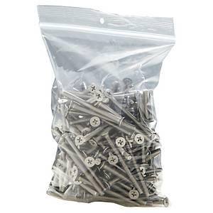 Sachet zippé, PE, 250 x 350 mm, 50 microns, les 100 sachets à fermeture zip