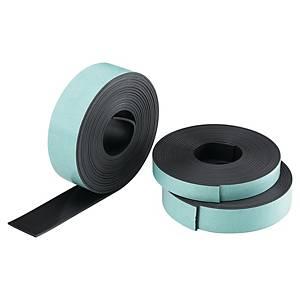 Bande magnétique Legamaster, 19 mm x 3 m, autocollante