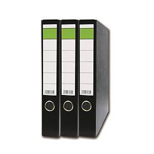 Hit Office Standardordner mit Rückenetikett, Rückenbreite: 5 cm, DIN A4, schwarz
