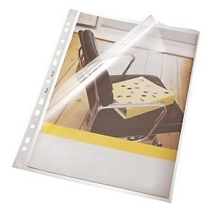 Bene 207200 Prospekthüllen A4, 100 µm, transparent, 100 Stück