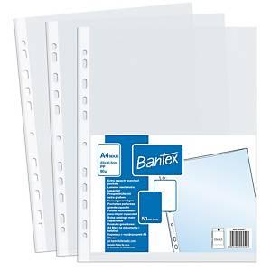 BANTEX  400124957 Prospekthülle A4+, transparent, 50 Stück