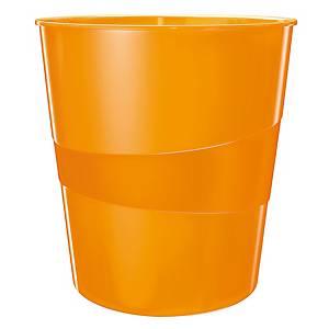 Cestino Leitz Wow polistirene 15 L arancione metallizzato