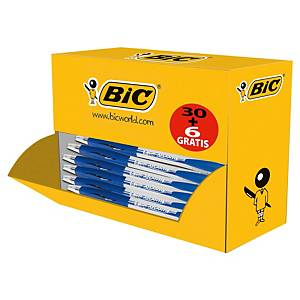 Bic Atlantis Clic kuulakärkikynä mekanismilla 0,32mm sininen, 1 kpl=36 kynää