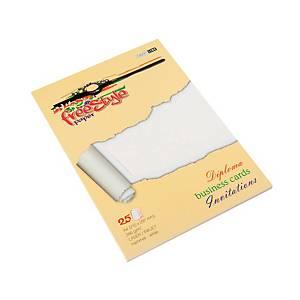 Ekologiczne papiery ozdobne FREE STYLE, naturalne płótno, biały