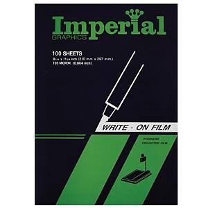 IMPERIAL แผ่นใสสำหรับเขียน A4 100M 100 แผ่น