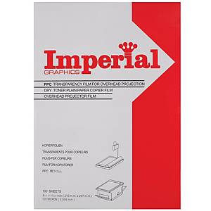 IMPERIAL Transparent Film For Copier A4 100 Sheets