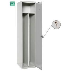 Taquilla adicional Lyreco Divisor - 2 compartimentos - 400 x 1800 - gris
