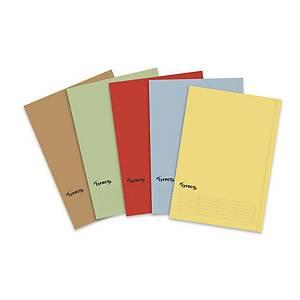 Pack 50 pastas classificadoras Lyreco Budget - A4 - cartolina - vermelho
