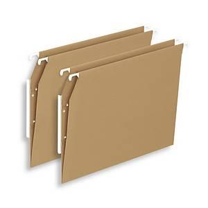Pack de 25 carpetas colgantes Lyreco Budget - A4 - kraft - lomo V