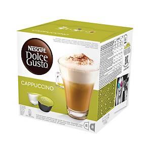 Nescafé® Dolce Cappuccino koffiecups, pak van 2 x 8 capsules