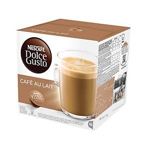Nescafé® Dolce Café au lait koffiecups, pak van 16 capsules