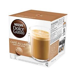 Caja de 16 cápsulas de café Dolce Gusto Café con leche