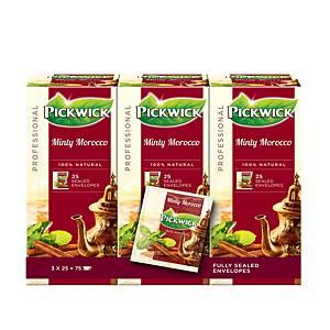 Thé marocain à la menthe Pickwick Professional, la boîte de 75 sachets de thé