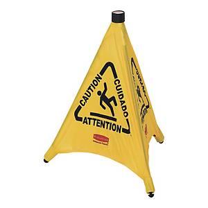 Cône de sécurité pliable Rubbermaid FG9S0000 surface glissante, jaune, la pièce