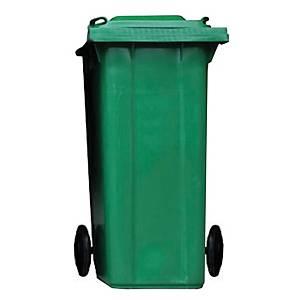 ถังขยะกทม ชนิดฝาเรียบ ความจุ 240ลิตร สีเขียว