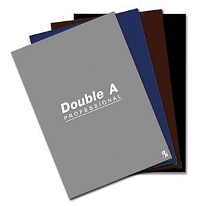 Double A สมุดปกอ่อนเย็บลวด 70 แกรม 24 แผ่น คละสีเข้ม แพ็ค 4 เล่ม