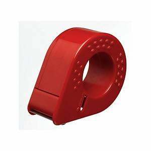 Dévidoir manuel Permapack, plastique, 50mmx66m, rouge