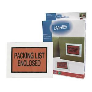 Bantex Self Adhesive Packing Envelope (Packing List Enclosed) A6