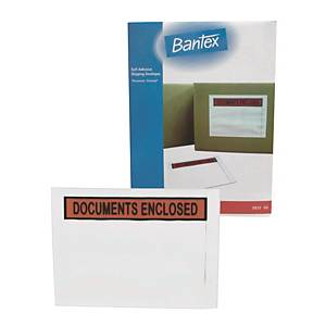Bantex 辦得事 自動黏貼郵寄用標籤袋 A5 - 100個裝