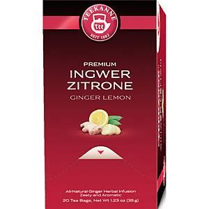 Tee Teekanne 44048, Premium Ingwer-Zitrone, 20 Beutel á 1,75g