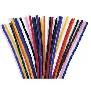 Colorations cure-pipe 6 mm x 30 cm assorties - le paquet de 100