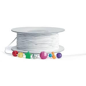 Colorations corde élastique blanc 91 m