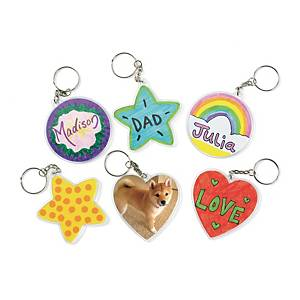 Colorations create your keychain - pack of 12