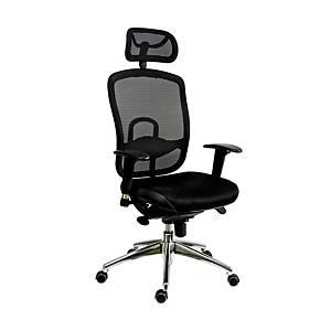 Antares Oklahoma kancelárska stolička, čierna