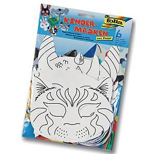 Folia masques d animaux blancs - le paquet de 6