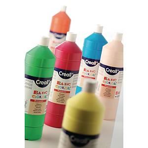 Creall Basic Color plakkaatverf, 1 l, assorti kleuren, per 6 bussen