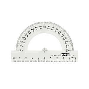 Rapporteur, demi-cercle, 10 cm, 0-180 degrés, la pièce